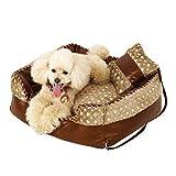 XAJGW Orthopädisches Hundebett Memory Foam Pet Bed mit abnehmbarem waschbarem Bezug und Squeaker-Spielzeug als Geschenk (Farbe : Style C)