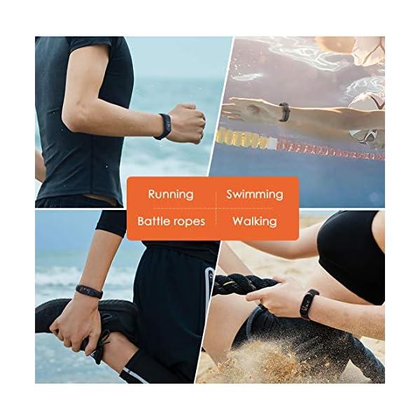 superpow Pulsera Actividad para Niños, Deportivo Smartwatch con Podómetros, Monitor de Frecuencia Cardíaca y Sueño… 5