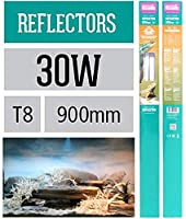 Reflector can be angled to direct the light into the aquarium or terrarium Maximises the light in your tank Made from a sturdy aluminium design Resistant to salt water corrosion Optimised reflector models for t8 lamps
