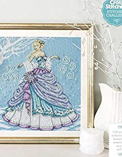 Zamtac Top Quality Beautiful Lovely Counted Cross Stitch Kit Snow Queen Goddess Fairy Woman Girl Lady Winter - (Cross Stitch Fabric CT Number: 18CT unprint Canvas)