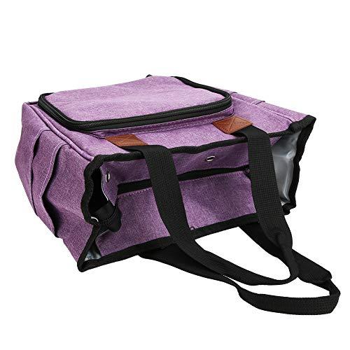 Bolsas de almacenamiento de ganchillo Organizador de agujas de tejer Organizador portátil de hilo azul de mezclilla Bolsa de mano Proyectos de transporte duraderos, para agujas de tejer,(purple)