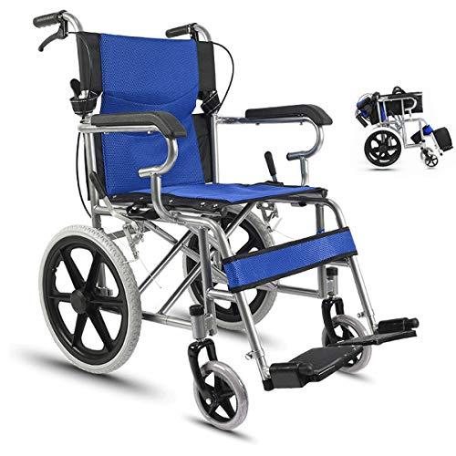 MYYLY rolstoel, draagbaar transport, opvouwbare rolstoel, draagbare reisstoel, met zittende invalide ouderwetse rolstoel-bestuurder, push scooter, rolstoelen