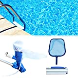 ANLEM Swimmer Pool Skimmer Set Kit Pool Vacuum Cleaner for Swimming Pool Maintenance Pond Fountain Cleaning, Leaves, Dirt and Sand & Silt