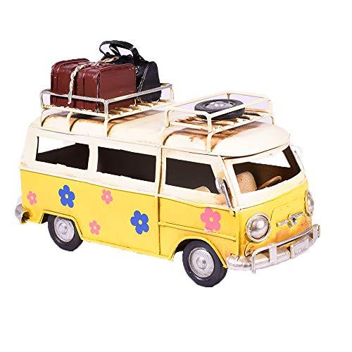 UniqueGift Retro Metall Sammelfigur Hippie Van Modell – Camper Travel Bus Figur – Tischdekoration