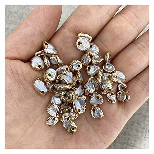 Perlas de piedra natural Colgantes Naturales De Perlas De Agua Dulce Irregulares Exquisitos Encantos Para La Fabricación De Joyas BRICOLAJE Accesorios De Pulsera De Collar Al Menos Comprar Tres Perlas