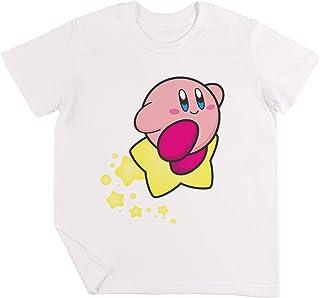 Paseo en Kirby Niños Chicos Chicas Unisexo Camiseta Blanco