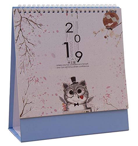Calendario de escritorio pequeño y simple 2019, calendario pequeño de dibujos animados creativos, 03
