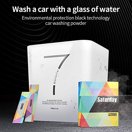 TOTMOX 4pcs Car Wash Kits, Waterless Car Wash Powder, Car Cleaner with Wax & Glass Wipes & Water Bucket Suit for Car RV Boat & Motorcycle