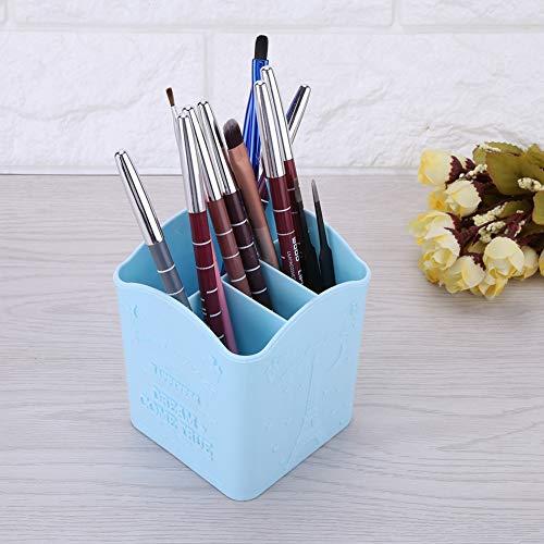 Lv. life Boîte de Rangement Papeterie Cosmétique Manucure Outils Conteneur avec Tour Eiffel Imprimer 3 Couleurs(Bleu)