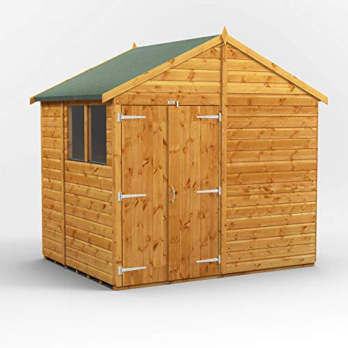 POWER | 6x8 Double Door Apex Wooden Garden Shed | Size 6 x 8 | Super Fast Delivery or Pick your own day