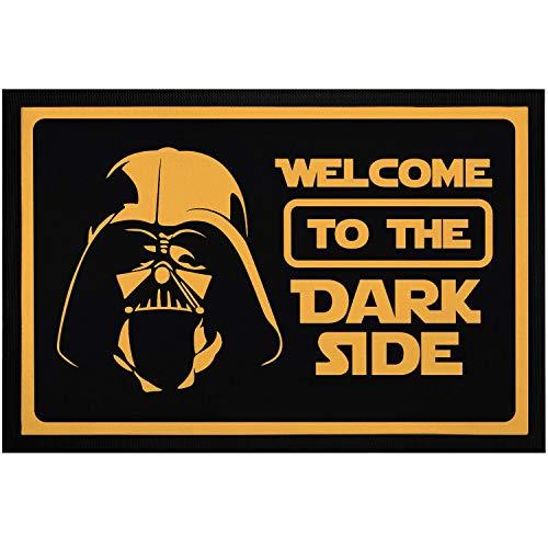 """MoonWorks® Felpudo con texto """"Welcome to the Dark Side película Parodia antideslizante y lavable, color negro, 60 x 40 cm"""