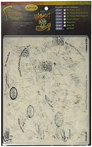 Artool Freehand Airbrush Templates, Wrath Of Skullmaster Set by Iwata-Medea