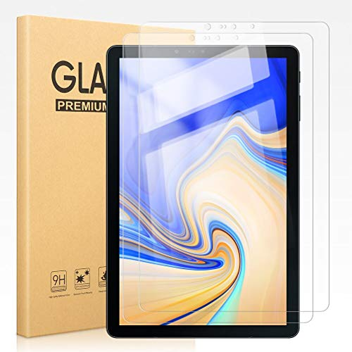 Pnakqil [2 Pack] Screen Protector for Samsung Galaxy Tab S4 10.5 Clear Tempered Glass Flim [Bubble-Free] [Anti-Scratch] Easy Installation Original Screen Protectors for Samsung Galaxy Tab S4 10.5 inch