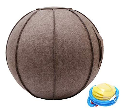 SOKLIT Funda para pelota de fitness de 65 cm, para embarazo o embarazo, para casa, oficina, pilates, yoga, estabilidad y fitness, con asa y tapa, incluye pelota de ejercicio y bomba