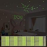 Yosemy Luminoso Pegatinas de Pared Puntos Estrellas 500pcs Pegatinas de Pared para Bebé Niños Fluorescente Adhesivos Cielo Estrellado Decoración para Dormitorio
