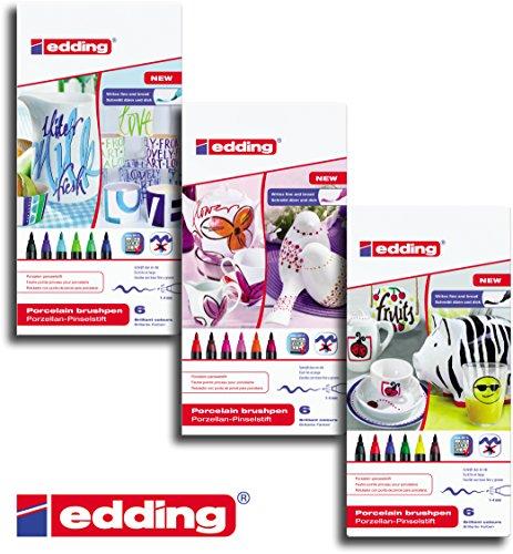 edding 4200 Porzellan-Pinselstift edding 4200, 1 - 4 mm (Alle 3 Farben)