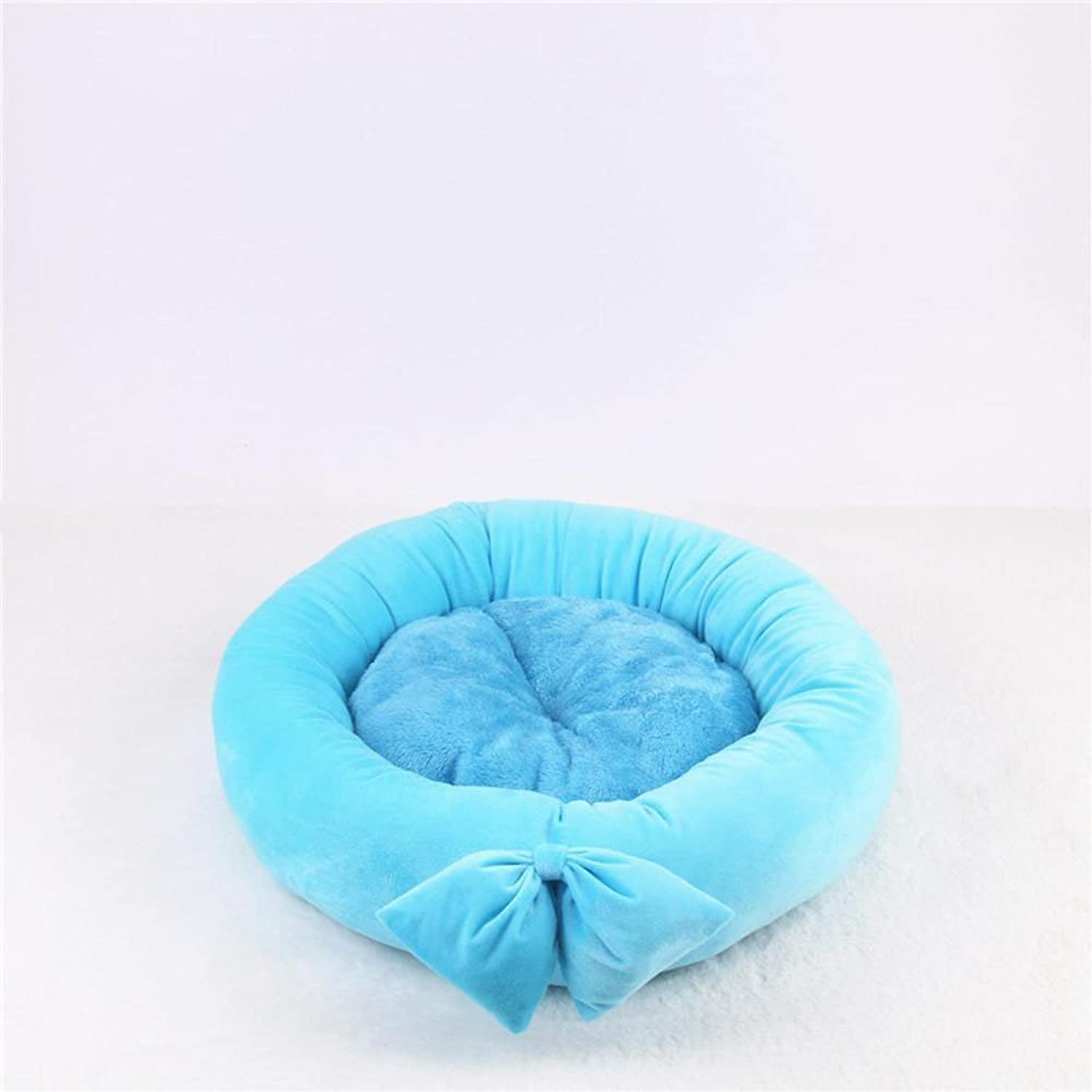 Lozse Pet Beds Small and mediumsized dog pet nest cushion cat nest Butterfly knot round kennel Four Seasons for Dogs and Cats Sleeping Cushion