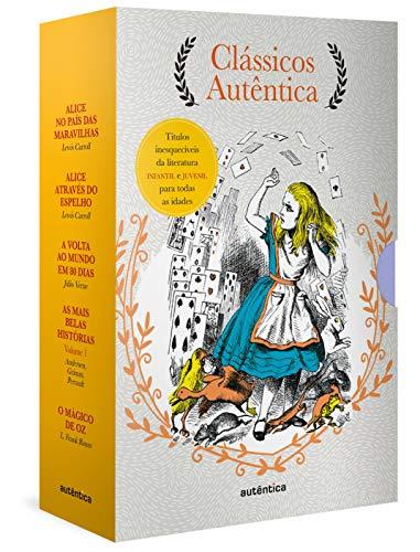 Caixa Clássicos Autêntica - Vol. 3 - (Texto integral - Clássicos Autêntica): Alice no país das maravilhas; Alice através do espelho; Volta ao mundo em ... As mais belas histórias vol. 1; Mágico de Oz