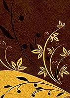 igsticker ポスター ウォールステッカー シール式ステッカー 飾り 841×1189㎜ A0 写真 フォト 壁 インテリア おしゃれ 剥がせる wall sticker poster 002808 ユニーク 花 フラワー ブラウン