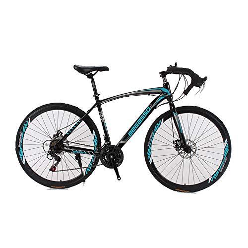 DRAKE18 Scheibenbremse Rennrad 30 Gang 700c mechanische Scheibenbremse Fahrradgabel Federung,Blue
