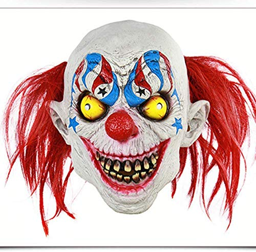 Red Nose Clown Mask, Latex Masker, Halloween masker, Cosplay Party Horror pruik HAOSHUAI