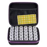 Sumnacon 30 bouteilles de peinture diamant Boîte de rangement à broderie Artisanat Bijoux Perles Pilules de...