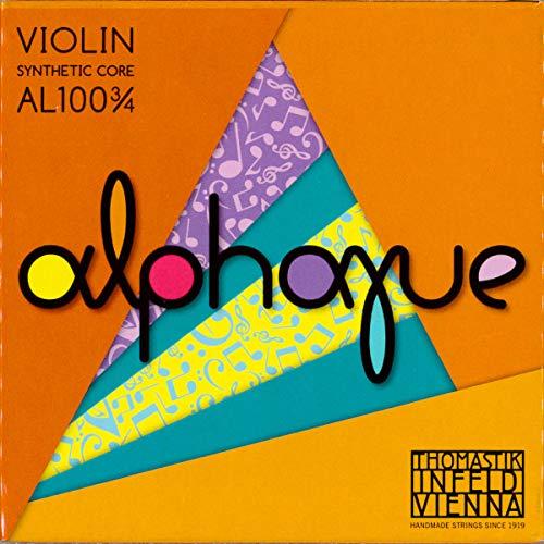 Thomastik 633439 Saiten für Violine ALPHAYUE Nylonkern, Satz 3/4 Mensur 305mm / 12 Zoll