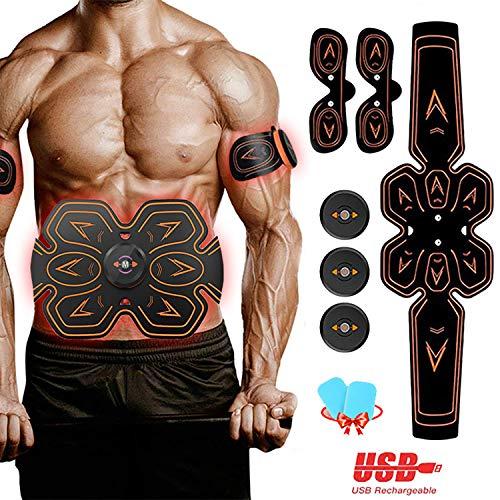 ZunBo EMS Bauchmuskeltrainer EMS Muskelstimulator USB Wiederaufladbar Elektrostimulation Muskeltraining EMS Trainingsgerät für Arm Bauch Beine Bizeps Trizeps für Körperbau und Fettverbrennung