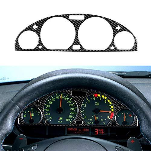 Lasamot Copertura Decorativa del cruscotto dello Strumento del Pannello del cruscotto dello Strumento Interno della Fibra del Carbonio per BMW Serie 3 E46 (1998-2005)