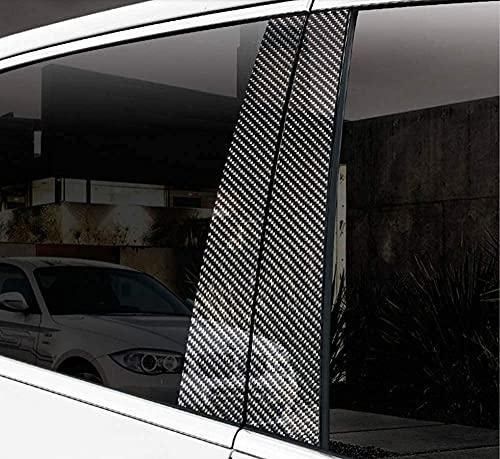 OYDDL 6PCS Echt Kohlefaser B C Säule Aufkleber Schutzfolie Türleisten Fenster Abdeckung kompatibel mit BMW 3 Series F30 (2013-2017)