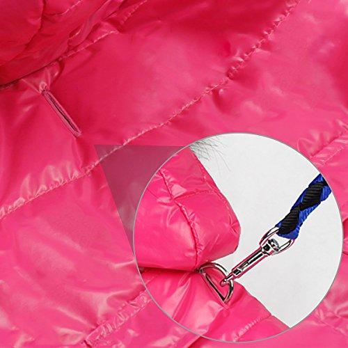 Namsan Pet Puppy Dog wasserfeste Kleidung und Winddichte Kapuzen Winter warme Kleidung Mantel Outwear -Pink -Kleine - 4