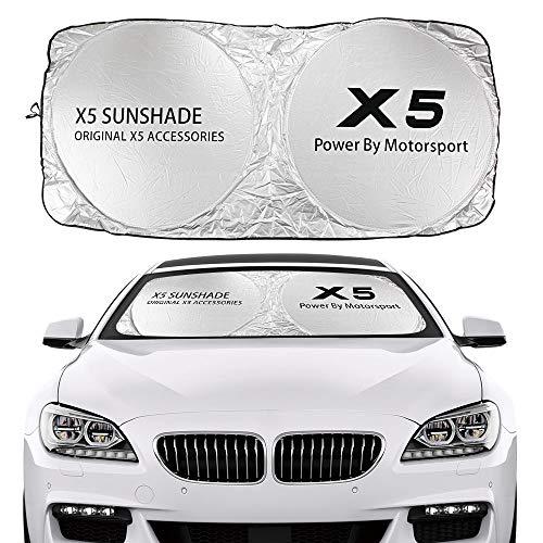 Parasol de Coche Cubierta del reflector anti urrector de sombra del sol de la sombra del automóvil Compatible con BMW X1 F48 x2 F39 x3 F25 X4 F26 X5 E70 F15 G05 X6 E71 X7 G07 Accesorios Bloqueo de Ray