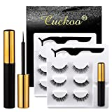 Magnetic Eyelashes and Eyeliner Kit, Magnetic Eyeliner for Natural Magnetic Eyelashes Set, With Reusable False Lashes [6 Pairs]