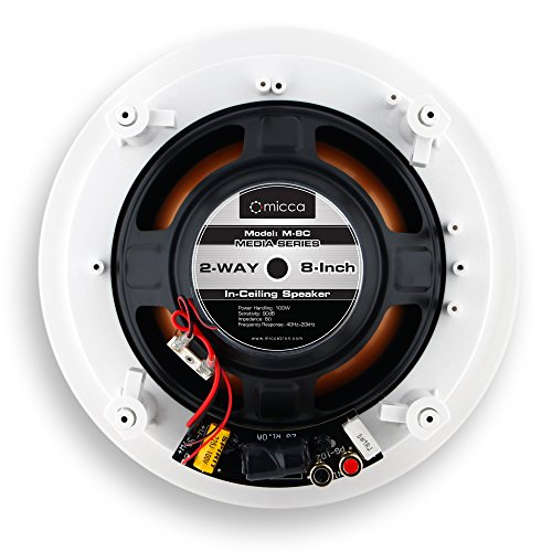 Micca M-8C 8 Inch 2-Way in-Ceiling in-   Wall Speaker with Pivoting 1