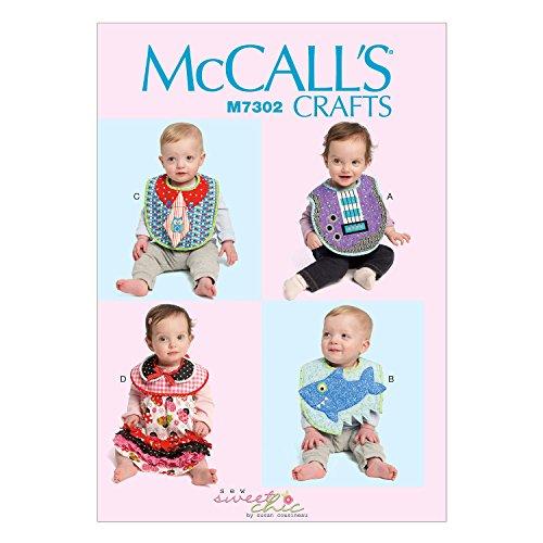 McCall 's Patterns 7302OS Kleinkinder Lätzchen Schnittmuster, Mehrfarbig