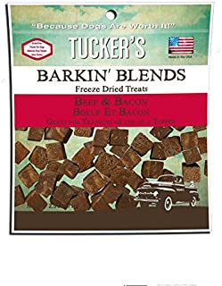 Tucker's Barkin' Blends Beef Liver and Bacon Freeze-Dried Treats 2.5 Ounces, Pack of 3