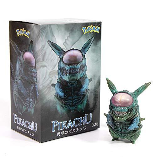 MizzZee 8.5cm Alien Pikachu Figura Pikachu Mix Xenomorph Warrior Aliens VS Predator...