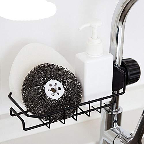 Soporte para Grifo para Fregadero Cepillo de Esponja Escurridor de jabón Estante Organizador montado en Grifo de Agua Estante Cocina Baño Suministros-Blanco, Estados Unidos