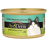 Avoderm Natural Grain Free Sardine, Shrimp & Crab Entree In Gravy Canned Wet Cat Food, 3-Ounce Cans,...