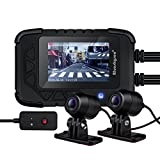 Motorcycle Dash Cam Motorcycle Recording Camera 1080p Dual Lens Video Recorder Motorcycle Dash Cam Sports Action Camera 130 Degree Angle Night Vision (DV688 dash cam)