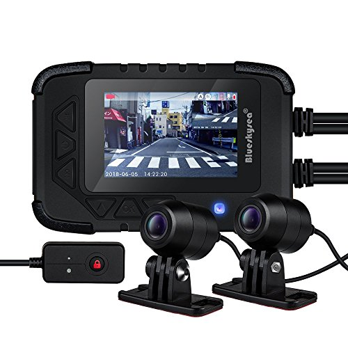 Dash CAM para Motocicleta, Blueskysea DV688 Cámara de Motocicleta con GPS 1080p Dual Lente Sony Sensor 2.35