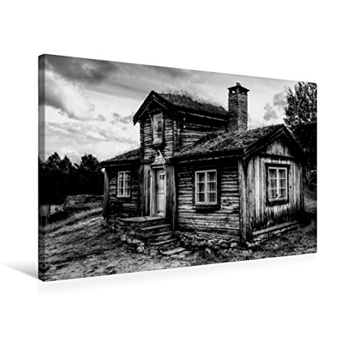 Premium - Lienzo textil (75 x 50 cm, horizontal, diseño de calendario de objetos en blanco y negro, imagen sobre bastidor, imagen sobre lienzo auténtico, impresión en lienzo (arte calvendo)
