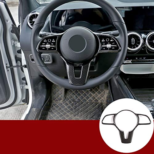 Auto Lenkrad Dekoration Abdeckung Für Benz A B C E G CLA CLS GLC GLE GLS GLB EQC W177 W247 W205 W213 C257 X253 W167 W463 X247 N293 Zubehör (Kohlefaser)