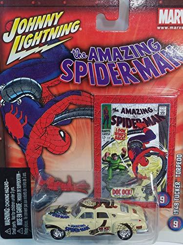 Johnny Lightning Marvel Series #9 Spiderman vs Doctor Octopus 1948 Tucker Torpedo 1/64 Scale Diecast Car