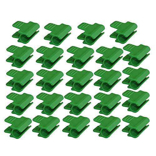 Infilm, 24 morsetti per tubi per piante con diametro esterno da 16 mm, clip in plastica per serre, morsetti per copertura a fila, rete per tunnel e piante
