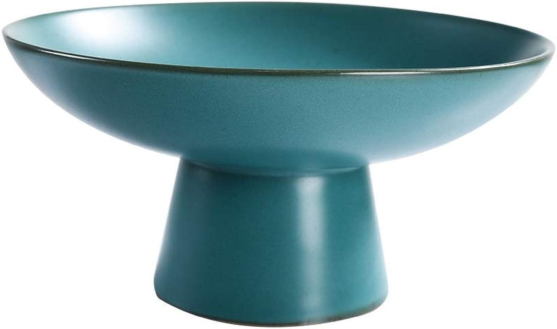 TONGBOSHI Bol de fruits maison de luxe beau et léger, bol de fruits en céramique, bol de fruits créatif (Couleur   vert, Taille   S)