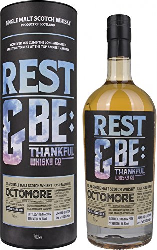 Octomore Rest und Be Thankful 6 Years Old Sauterness Cask Limited Edition mit Geschenkverpackung Whisky (1 x 0.7 l)