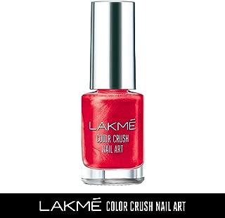 Lakme Color Crush Nailart, M4 Vermilion Red, 6 ml