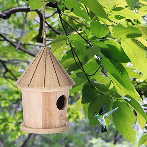 fllyingu Nistkasten mit Vogelfutterhaus,Vogelfutterhaus zum selbst Bauen-Bausatz-Vogelhaus-Vogelhäuschen-Vogelhaus Garten Deko