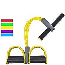 Sit-up Bodybuilding Expander Pedal Resistance Band Home Gym Ger/äT F/üR Fitness Abnehmen Training iClosam Upgrade 4 Tubes Multifunktions Leg-Exerciser Elastische Zugseil Trainingsger/äte